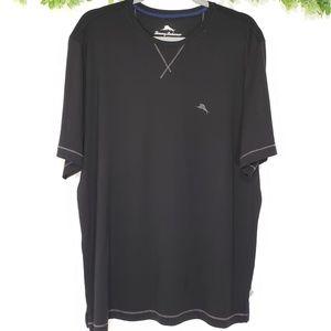 Tommy Bahama Black Short Sleeve Basic Tee w/ Logo